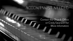 Accompanist Needed BUL